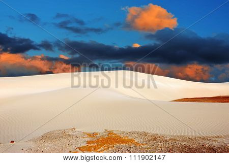 Sunset In A Sand Dunes, Socotra