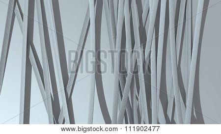 Paper Ribbon Background White
