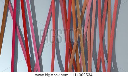 Ribbon Paper Background Red