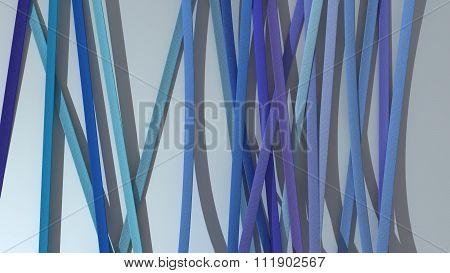 Ribbon Paper Blue