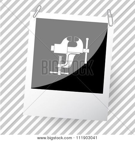 clamp. Photoframe. Raster icon.