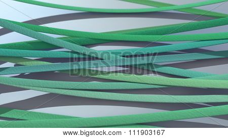 Ribbon Background Green