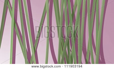 Paper Ribbon Background Pink Green