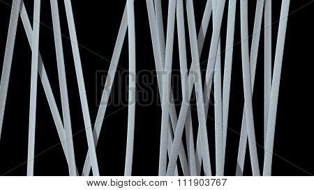 Paper Ribbon Background Black White