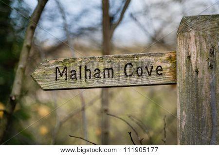 Sign To Malham Cove