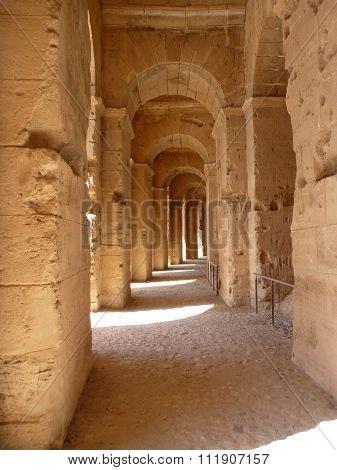 A Corridor In The Amphitheatre El Jem
