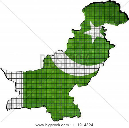 Pakistan Map With Flag Inside.eps