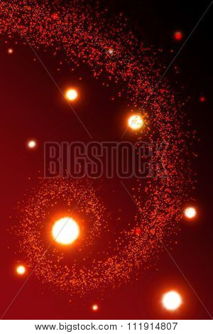 Abstract red Christmas background .