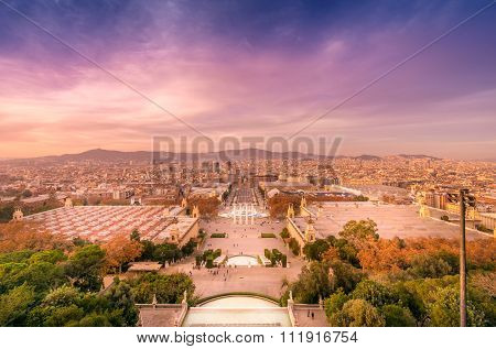 Sunset from Montjuic Barcelona