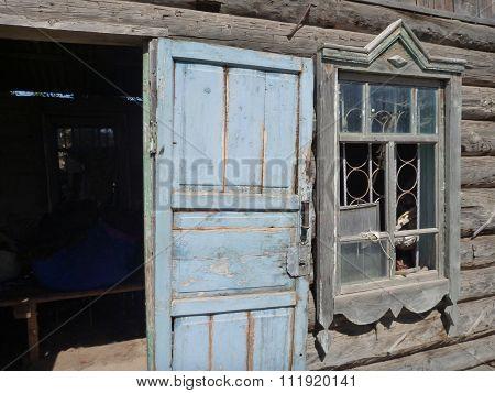 Old House Door And Window