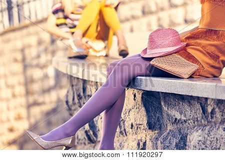 Fashion urban people, womans,outdoor. Lifestyle