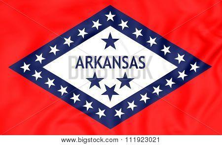 Flag Of Arkansas, Usa.