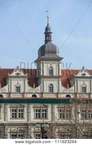Former Town Hall Of Mala Strana In Prague, Czech Republic.