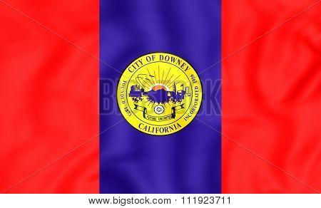 Flag Of Downey (california), Usa.