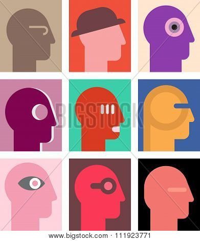 Human Heads Collage