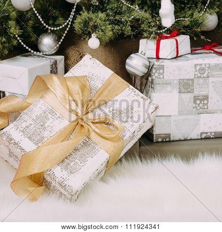 Gifts At Christmas Tree
