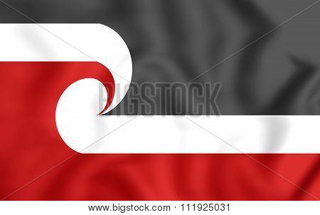 Tino Rangatiratanga Flag Of The Maori Sovereignty Movement.