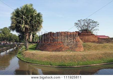 Moat of Lanna kingdom in Chiang Mai Thailand