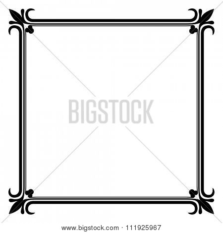Black and white vintage frame template.