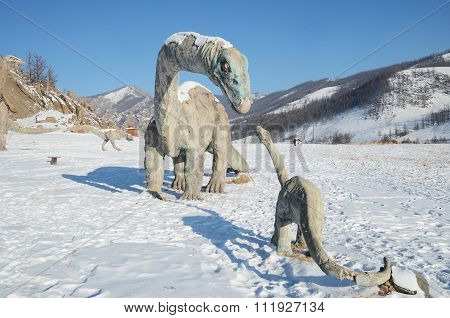 Central Aimag, Mongolia-Dec,03 2015: Dinosaur Valley  in Terelj National Park. Mongolia