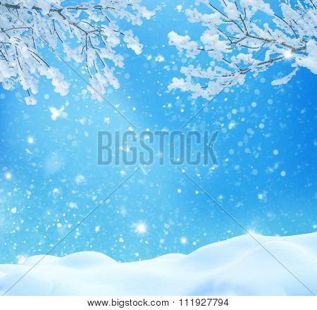 Winter christmas landscape