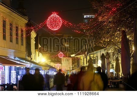 Advent Time In Zagreb At Night
