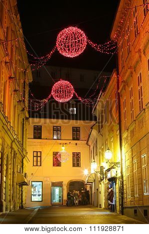 Christmas Decoration In City