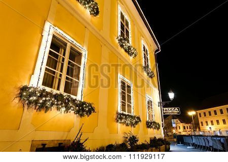 Christmas Decoration On Building