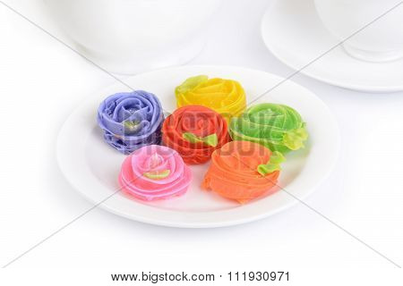 Colorful Thai Sweet Dessert, A-lua.