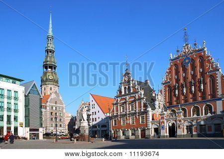 The house black-headed in Riga