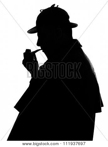 Sherlock Holmes silhouette famous detective