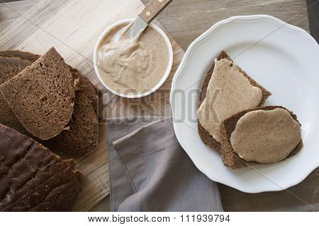 beauty shot of almond butter spread
