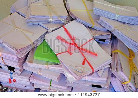 Stock Of Paper Document