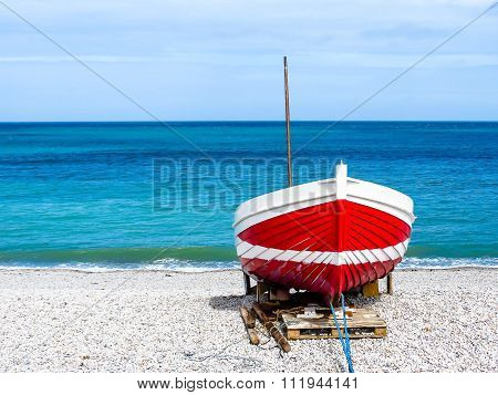Red-white boat