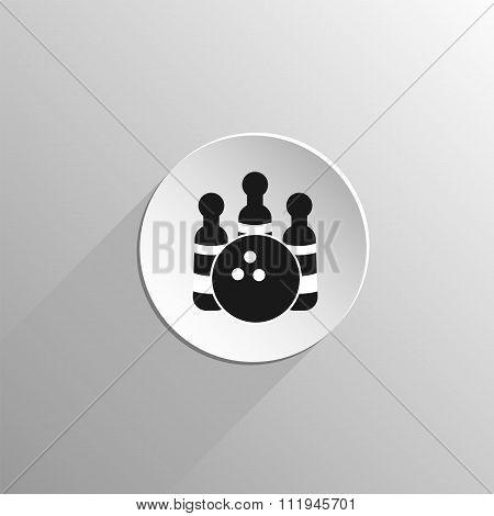 Bowling Icon Black