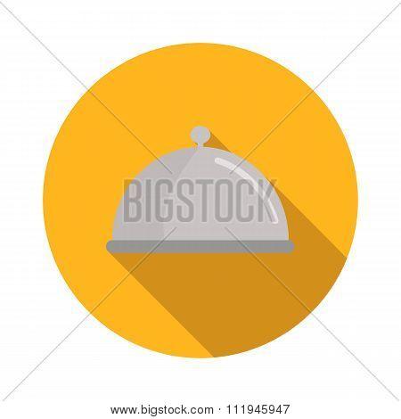 Restaurant cloche flat icon