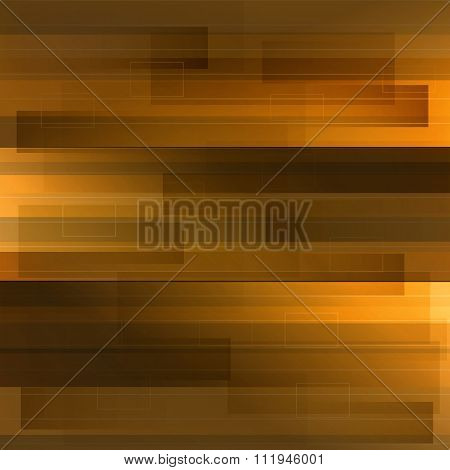 Motion Yellow And Orange Technology Background With Shapes And L