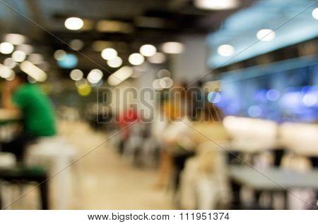 Blur Background Food Center
