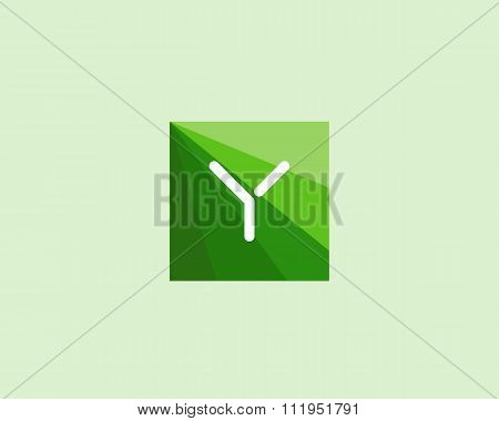 Abstract letter Y logo design template.