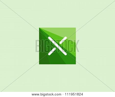 Abstract letter X logo design template.