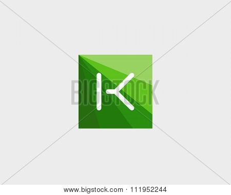 Abstract letter K logo design template.