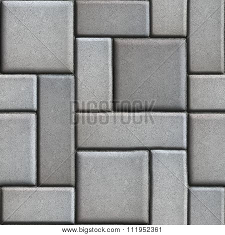 Smooth Gray Paving Slabs as of Rectangles and Squares.