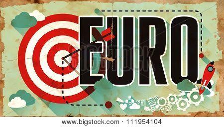 Euro on Grunge Poster.