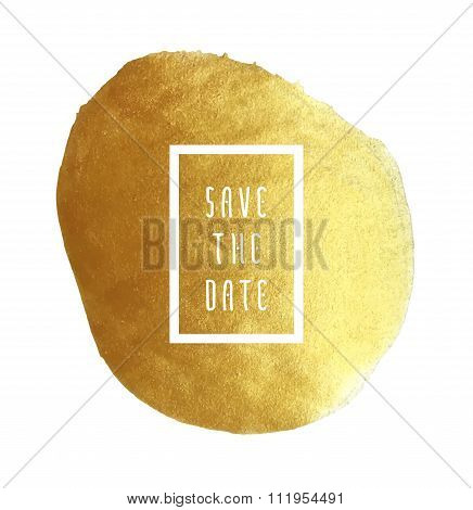 Golden Save The Date