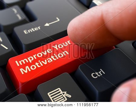Improve Your Motivation - Clicking Red Keyboard Button.