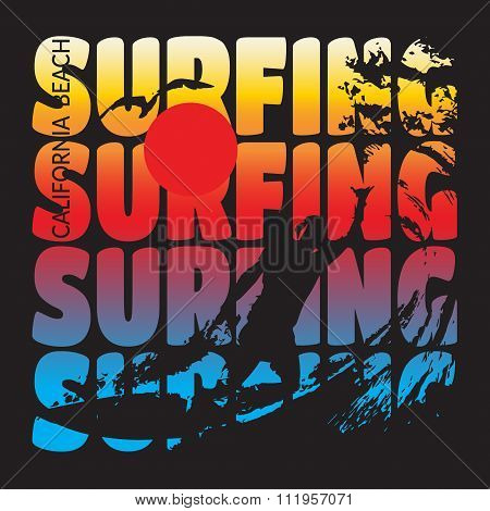 Surfing T-shirt Design