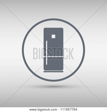 Refrigerator icon. Vector illustration.