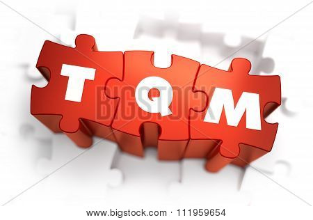 TQM - White Word on Red Puzzles.