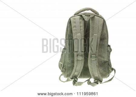New Brown Backpack  Isolated On White