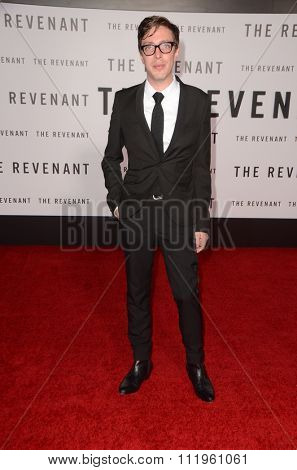 LOS ANGELES - DEC 16:  Joshua Burge at the The Revenant Los Angeles Premiere at the TCL Chinese Theater on December 16, 2015 in Los Angeles, CA